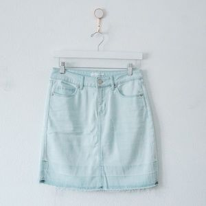 LOFT Light Wash Denim Skirt